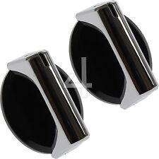 2 Genuine Baumatic Caple Black Oven Cooker Control Knob Hob Switch Dial - WMD10
