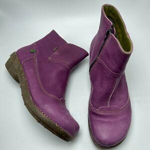 El Naturalista Size 39/8.5-9 Purple Ankle Gore-tex Boots