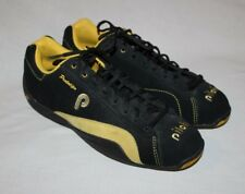 Piloti Prototipo Driving Shoes Black Yellow Suede Men's Size 10 US 44 EUR