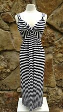 Spense Maxi Dress Missy S Blue and White Striped Stretchy