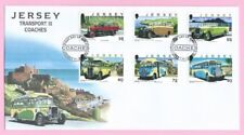 JERSEY Post 2011  FDC - TRANSPORT III - COACHES    - Special Handstamp