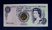 """1978 Isle of Man £1 coin """"World's First £1 coin"""" in Card Holder   (Y4/6)"""