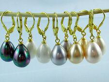 Markenlose echte Perlen-Ohrschmuck im Hänger-Stil