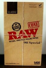 Raw classic 98 special Prerolled Cones 1400 Count~ 98mm Factory Box~Sale