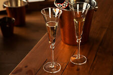 NEW Luxury 2pc Large Champagne Glasses Prosecco Flutes Wedding Gift Dinner Party