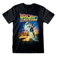 Back to the Future Movie Poster Classic Official Marty McFly Black Mens T-shirt