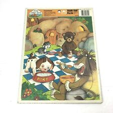 Cavetown Frame Tray Puzzle Little Golden Book Land 1989 Poky Lion Cat Bear