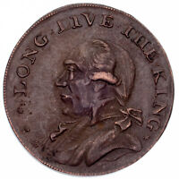 "1795 Great Britain 1/2 Penny Token ""Long Live the King"" XF Condition"