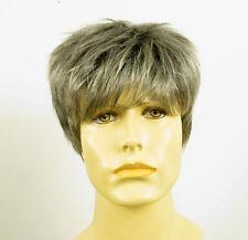 Perruque homme 100% cheveux naturel gris poivre et sel ref JACQUES 44