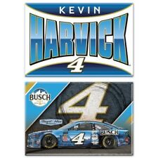 Kevin Harvick 2019 Wincraft #4 Busch Beer MUSTANG 2x3 Magnet Set 2pc FREE SHIP!