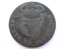 Irlanda 1686 Regal acuñación Halfpenny, F. ACS