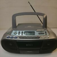SONY CFDS01 CD Radio Cassette Boombox Stereo Player w/Mega Bass Tested & Working