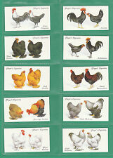 BIRDS  /  POULTRY  -  10  SETS  OF  50  PLAYER'S  ' POULTRY ' CARDS  -  REPRINTS