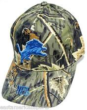 Detroit Lions NFL RealTree Camo w/ Blue Logo Hat Cap Camouflage Woods Hunting