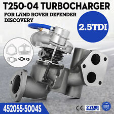 T250-4 Turbo charger 452055-5004S for Land-Rover Defender Discovery 2.5TDI 1990-