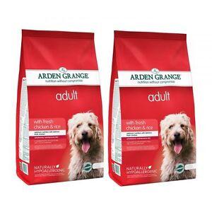 Arden Grange Adult Chicken & Rice Hypoallergenic Dog Food 2 x 12Kg (24kg)