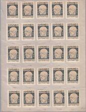 FIUME 1920 EFFIGE  D'ANNUNZIO FRANCOBOLLI NUOVI 25 PEZZI SASSONE 115 MLH STUDIO
