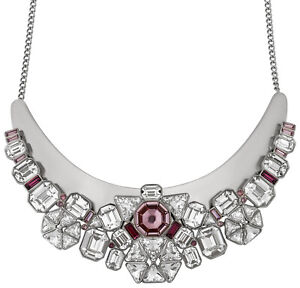 Swarovski Diana Pink and Clear Multi-Stone Bib Necklace for Women 5141353