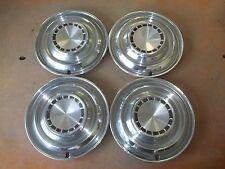 """1963 63 Chrysler Newport 300 Hubcap Rim Wheel Cover Hub Cap 14"""" OEM USED G11 SET"""