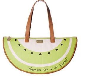 Betsey Johnson Kiwi Slice Cooler ToteTutti Fruity Satchel Purse Bag NWT