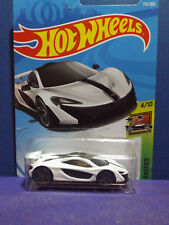2018 Hot Wheels McLAREN P1 in WHITE. HW EXOTICS Series 4/10. Long Card