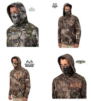 Men's Fleece Camo Performance Pullover Hoodie / Gaiter Mossy Oak / Realtree