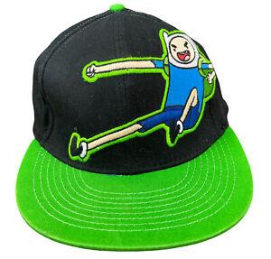 Cartoon Network Adventure Time Finn Kick One Size Flex Fit Flat Bill Hat Cap