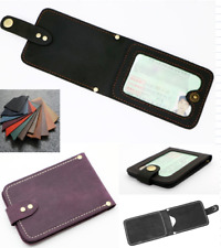 driver license certificate card cow Leather case bag holder handmade black A905