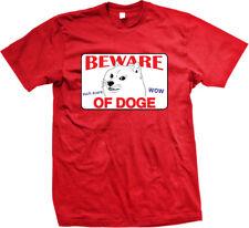 Beware Of Doge Wow Such Scare Dog Meme Misspelled Warning Sign Go Men's T-Shirt