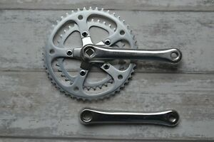 Vintage Stronglight Crankset 170mm Square Taper Double 48/36 Chainrings BCD 86mm