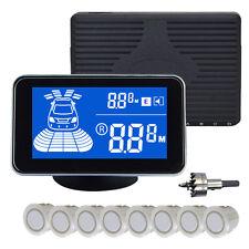 8 Parking Sensor Dual core Double LCD Display Car Reverse Radar Alarm Kit