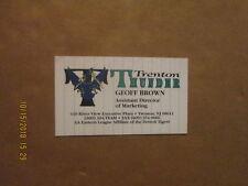 Trenton Thunder Geoff Brown Team Logo Baseball Business Card