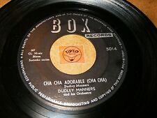 DUDLEY MANNERS - CHA CHA ADORABLE - TANGO AZURE / LISTEN - LATIN  POPCORN
