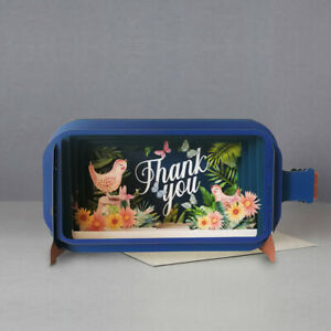 Message In A Bottle Tweet Thank You Pop Up Greeting Card By Alljoy Cards