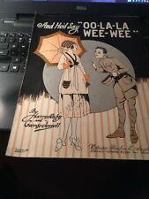 Sheet Music: And He'd Say Ooh La La Wee Wee 1919
