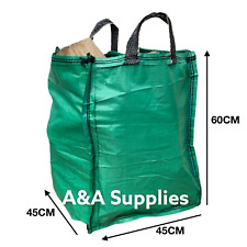 ✅NEW! Garden Waste Bag 120L Reusable Strong Sacks for Grass Leaves Logs Firewood