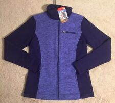 The North Face Indi Full Zip Sweater Jacket Purple NEW Women's Small NWT $120