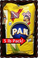 HARINA PAN 5 Lb Pack! VENEZUELA RICAS AREPAS WHITE CORN MEAL FLOUR COLOMBIA