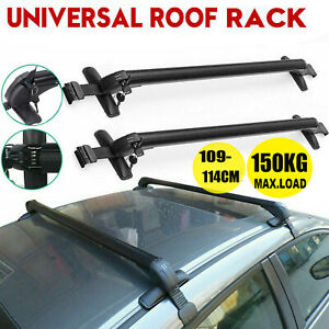 43.3'' Universal Car Auto Top Roof Rack Cross Tube Bars Cargo Luggage Carrier