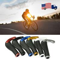 1Pair MTB Bike Handlebars Grips Rubber Non-Slip Lock-On Comfortable Bar Grips