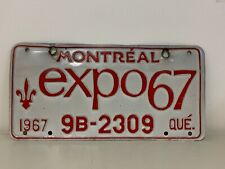 GR8 1967 QUEBEC EXPO LICENSE PLATE TAG NUMBER N 29692 VINTAGE PQ MONTREAL