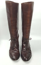 Riding boots 9 M Marc Alpert Maria Pia chestnut brown Italian leather vintage