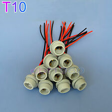 10 x T10 168 194 rubber wedge LED  Bulb Light Harness Connectors Wiring Socket