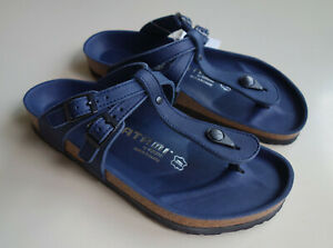 new TATAMI by BIRKENSTOCK Leather Sandal ADANA EXQ Mystery Blue US10 EU41 UK7.5