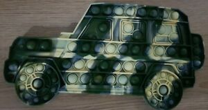 Army Military Car Push it Bubble Pop Fidget Sensory Toy ADHD Stress Toys Camo