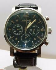 CLEAN AVI-8 SPORTS WITH ITS PAPER WRIST WATCH S/STEEL LEATHER ORIGINAL STRAP