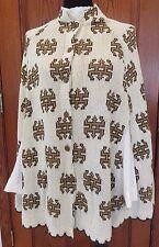Vintage 70s Sears, U.S.A. Acrylic Sweater Cape Poncho w/ Geometric Design