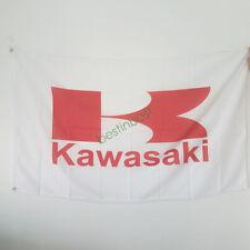 Nouveau Drapeau de voiture racing Bannière Drapeaux pour KAWASAKI Drapeau 3x5ft 90x150cm