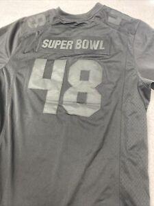 🌴 Super Bowl 48 Black Jersey Mens NFL Football Team Apparel Nike 2xl Xxl 🌴