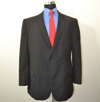 Pronto Uomo 52R Sport Coat Blazer Suit Jacket Black Wool Blend